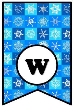 'If I Were A Snowflake', LETTERS, Winter, Snow, Bulletin Board Sayings Pennant