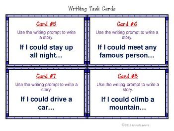 """If I..."" Writing Task Cards"