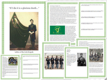 Close Reading Letters of Irish Soldiers in the Civil War - Middle & High School