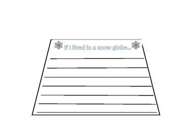 if i were trapped inside a snowglobe writing template by alyssa