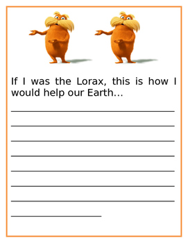 """""""If I was the Lorax...."""""""