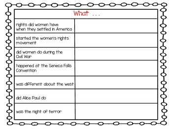 . . . If You Lived When Women Won Their Rights ~ 36 pgs of Common Core Actities