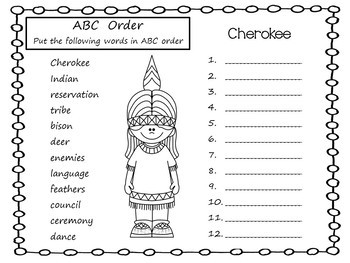 . . . If You Lived With the Cherokee ~ 52 pages of Common Core Activities