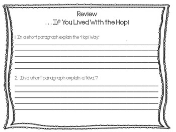 . . .  If You Lived With the Hopi ~ 47 pages of Common Core Activities
