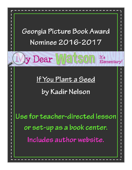 """If You Plant a Seed"" - GA Picture Book Award Nominee 2016-2017"