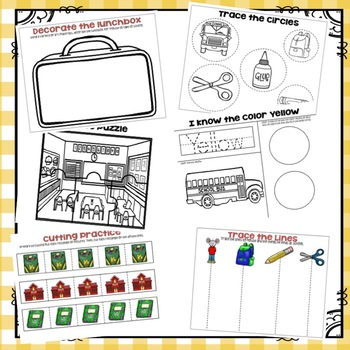 """If You Take a Mouse to School"" Preschool Theme Packet"