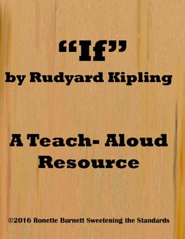 """""""If"""" by Rudyard Kipling- A Teach- Aloud Resource"""