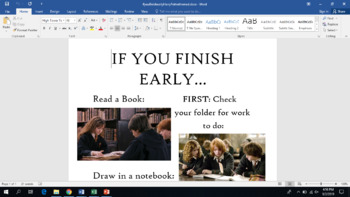 """""""If you finish early"""" Harry Potter themed"""