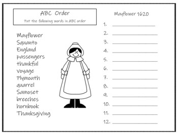 . . . If You Sailed on the Mayflower in 1620 ~ 56 pgs. Common Core Activities