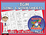Igh Worksheets and Song | -igh Words | NO PREP - HeidiSongs