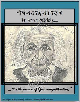 """""""Imagination is everything."""" Einstein Classroom Poster"""