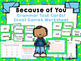 """Imagine It """"Because of You"""" Unit 1.1- Reading Focus Wall- Grammar Center"""