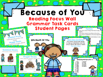 "Imagine It ""Because of You"" Unit 1.1- Reading Focus Wall-"