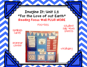 "Imagine It  ""For the Love of our Earth "" Unit 1.2- Reading Focus Wall- Grammar"