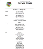"""Imma Natural Disasta"" Lyric Sheets, Worksheets, & Answer"