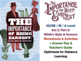 """Importance of Being Earnest"" by Oscar Wilde - Humour and Types of Comedy"