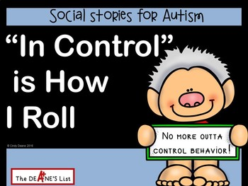 """Social Stories for Autism: """"In Control"""" is How I Roll"""