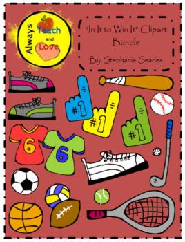 """""""In It to Win It"""" Sports Clipart Bundle"""