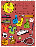"""In It to Win It"" Sports Clipart Bundle"