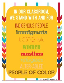 """In OUR classroom we..."""