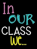 """In Our Class, We..."" Subway Art Poster FREEBIE"