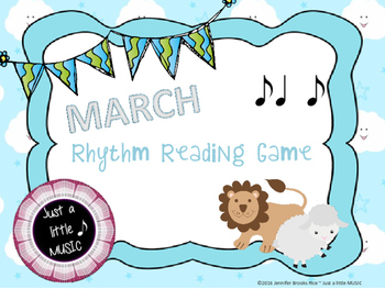 """In like a lion, Out like a lamb"" March Rhythnm Reading Game {syncopa}"