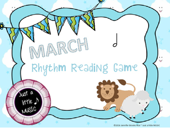 """""""In like a lion, Out like a lamb"""" March Rhythnm Reading Game {ta-ah}"""