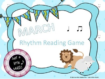"""In like a lion, Out like a lamb"" March Rhythnm Reading Game {ta titi}"