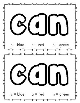"""""""In the Fall I Can"""" sight word emergent reader"""