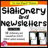"""""""In the News"""" EDITABLE Stationery & Newsletters"""