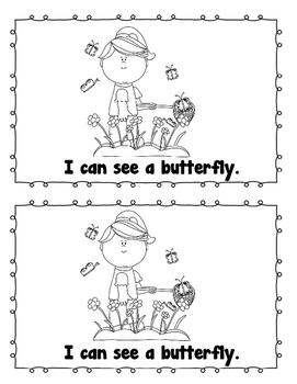 """""""In the Spring I can"""" Sight Word Emergent Reader Mini Book + (five senses)"""