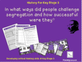 'In what ways did people challenge segregation and how suc