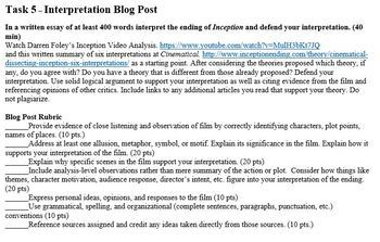 """""""Inception"""" Film Guide: Understanding Allusion, Metaphor, Symbols, and Motifs"""