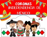 ¡Independencia de México! ESPAÑOL / Mexican Independence Spanish / Hats / Crowns