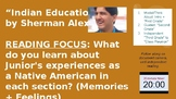 """""""Indian Education"""" by Sherman Alexie PPT"""