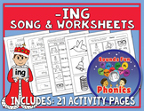 Ing Worksheets and Song | -ing Words |  NO PREP - HeidiSongs