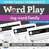 -Ing Word Family Worksheets No Prep Chunk Spelling Ending