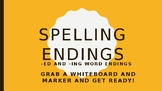 -Ing and -Ed Endings, Power Point Lesson