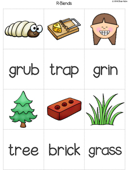 {Initial Blends Match It} Word Work Reading Station Literacy Center Memory Game