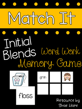 {Initial Blends Match It} Word Work Reading Station Litera