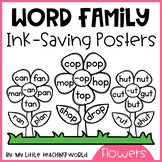 {Ink Saver} Word Family Flower Posters