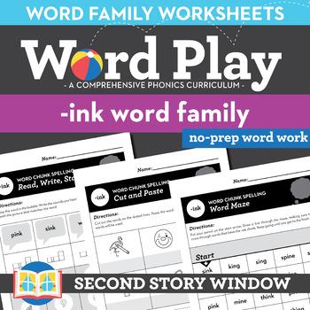 -Ink Word Family Worksheets No Prep Chunk Spelling Ending Blends -nk
