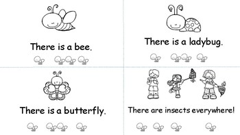 """""""Insects"""" - a Guided Reader with a focus on """"there"""""""