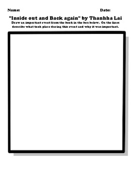 """""""Inside out and Back again"""" by Thanhha Lai Worksheet Packet"""