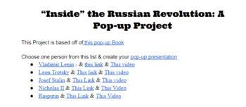 """Inside"" the Russian Revolution Paper Art Project"