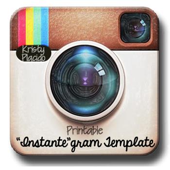 """Instante""gram Printable Template"