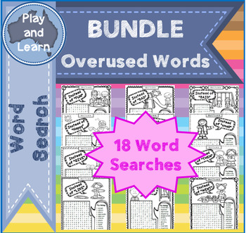 """""""Instead of"""" Word Search Bundle of Overused Words"""