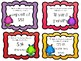 **Integer Representations Task Cards with Recording Sheet and Answer Key**