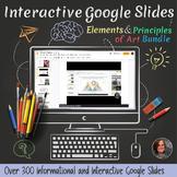 *Interactive Elements & Principles of Art Google Slides Worksheets - Visual Art