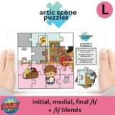 Artic Scene Puzzles: in, med, fin /l/ + blends BOOM CARDS
